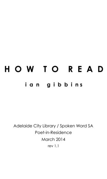 city library how to read